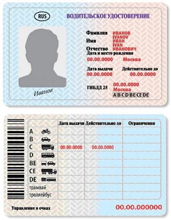 скачать копию водительского удостоверения …